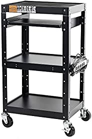 Pearington AV and Presentation Cart Stand for Video Projector, TV, Laptop Computers, Printers-Metal Constructi