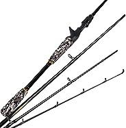 Fiblink 4 Pieces Travel Rod Spinning & Casting Fishing Rod 24 Ton Carbon Fiber Portable