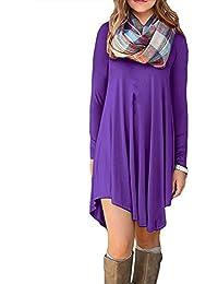 Women's Long Sleeve Casual Plain T-Shirt Loose...