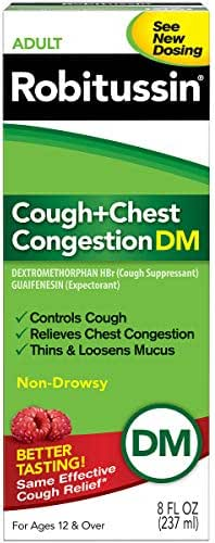 Cough & Sore Throat: Robitussin Cough & Chest Congestion