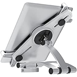 Master Mounts T-203 Tablet Mount Counter Top Mount and Articulating Wall Mount -- Universal Tablet Wall Mount and Table Stand for Ipad, Samsung Galaxy, Nexus, Sony, Google, Fire, 2 in 1 (Silver)