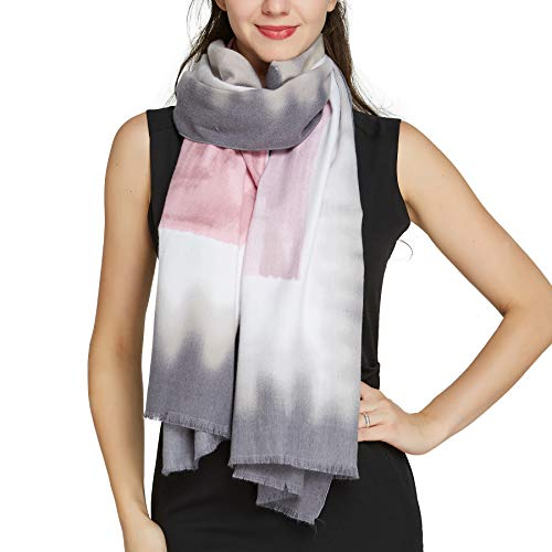 Scarfs for Women Winter Warm - Pantonight Geometric Wool Feeling Shawl Scarf Warm
