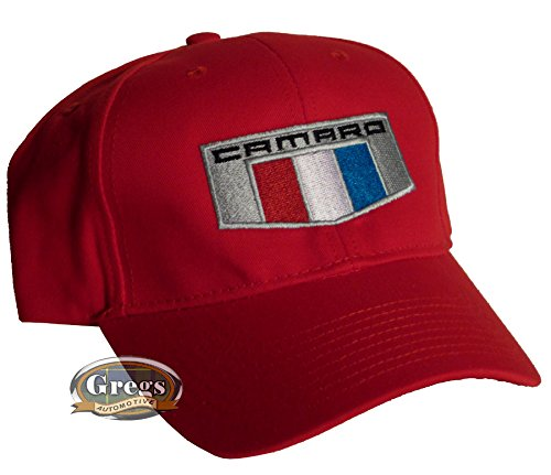 Gregs Automotive Camaro 6Th Generation Hat Red Made in USA Bundle with Driving Style Decal Chevrolet Camaro NC-545-RD