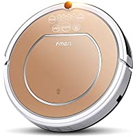 Fmart E-R302G(S) Intelligent Automatic Robot Vacuum Cleaner 3 in 1 Suction,Sweep, Mop Household Robotic Vacuums Cleaner with HEPA Filter, Strong Suction, Self-charge for Low-pile Carpet, Hard Floor