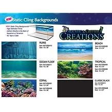 Aquatic Creations Static Cling Aquarium Background, 36 by 18-Inch, Classic Black