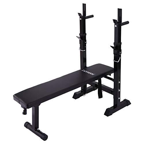 thegreatshopman Black Multi-Function Adjustable Weight Lifting Bench