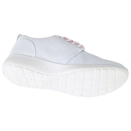 Napoli-fashion Profilsohle Schuhe Laufschuhe Runners Weiss Jennika Sport Damen