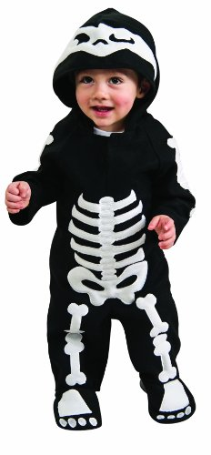Romper Costume, Skeleton - Toddler (U.S.A. Size 2-4) For 1-2 (Halloween Toddler Boy Costumes)