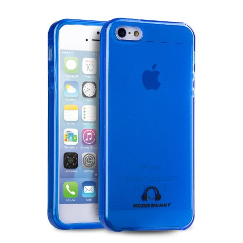 Gear Beast GripJelly Flexible Glossy TPU Phone Case for Apple iPhone 5 / iPhone 5s (Blue)