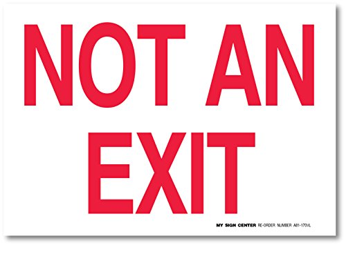 Not Exit Fire Safety Sign
