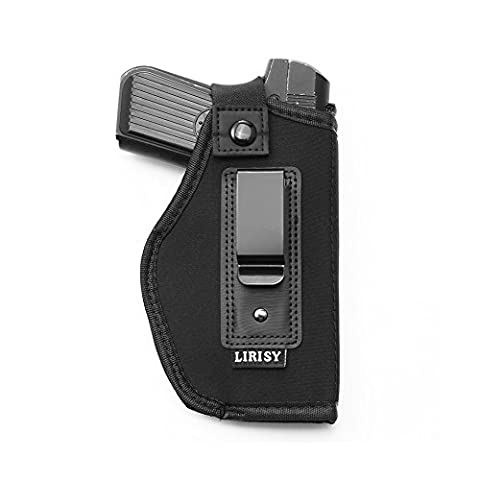 Lirisy Inside The Waistband Holster | Gun Concealed Carry IWB Holster | Fits S&W M&P Shield / GLOCK 26 27 29 30 33 42 43 / Springfield XD XDS / Ruger LC9 & All Similar - S&w Leather Saddle