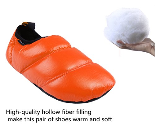 Sole Rubber amp; Bag Orange Resistant Warm Colors Soft KingCamp Slip with Camping Unisex Carry Slippers 6 Rv8wxnzq