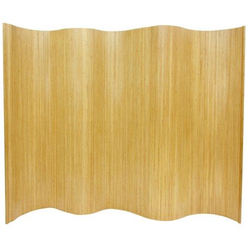 Tall Bamboo Wall - Oriental Furniture 6 ft. Tall Bamboo Wave Screen - Honey