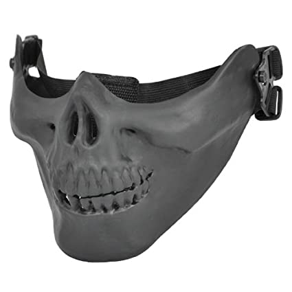 Topro Skull Skeleton Airsoft Paintball Half Face Game Protect Mask Color Black