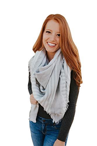 Water Gypsy Trendy Fashion Plaid Scarf Oversized Blanket Shawl for Winter ()