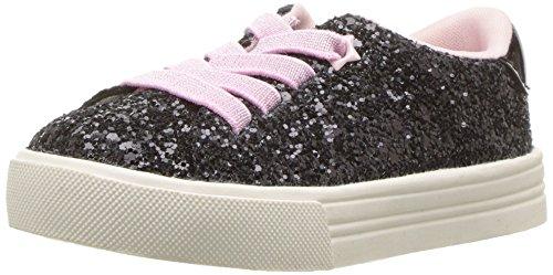 OshKosh B'Gosh Girls' Seeley Sneaker, Black, 6 M US Toddler