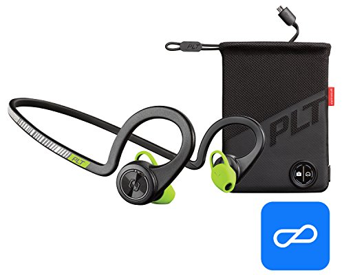 Price comparison product image Plantronics BackBeat FIT Boost Edition Sport Earbuds, Waterproof Wireless Headphones with Charging Pouch, Access to Interactive Audio Coaching from the PEAR Personal Coach App, Black Core
