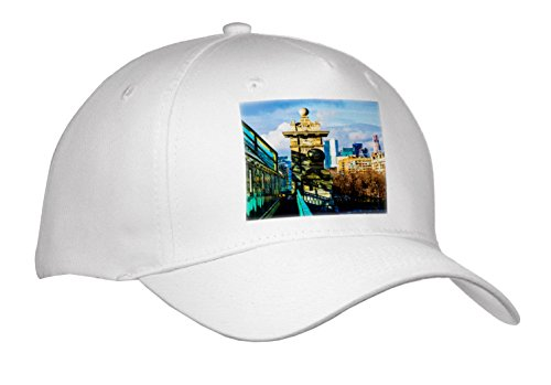 Alexis Photography - Moscow City - pedestrian Bridge Over The Moscow River, Skyscrapers Of Moscow City - Caps - Adult Baseball Cap (River City Cap)