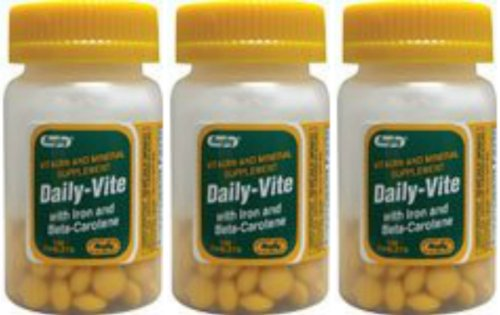 Daily-vite w/ Iron & Beta Carotene 100 Tabs By Rugby (3 Pack) by ()