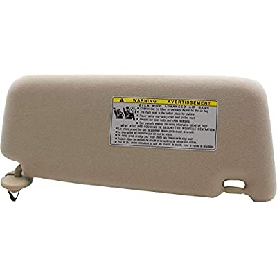 Left Driver Side Sun Visor  Fit for 2007 2008 2009 2010 2011 Toyota Camry &Toyota Camry Hybrid 2007-2011Without Sunroof and Light-Beige: Automotive