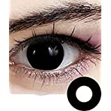Cosplay Eyes Multi-Color Contact Lenses Cosplay Eyes Cute Colored Charm and Attractive Blends Cosmetic Makeup Eye Shadow (black)