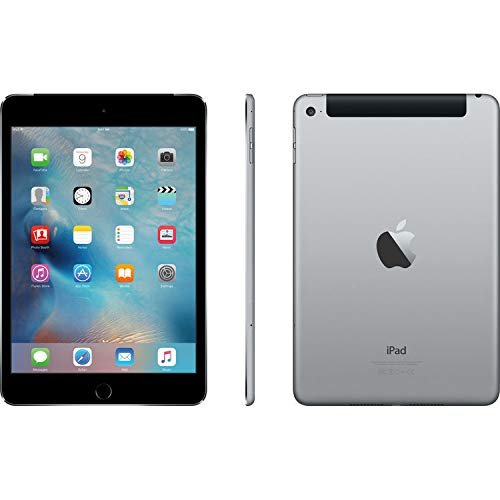 Apple iPad Mini 4 (128GB, Wi-Fi + Cellular, Space Gray) (Renewed) (Best Camera For Ipad Mini)