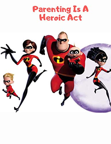 College Superhero Party Costumes - The Incredibles: Blank Lined Superhero Gift
