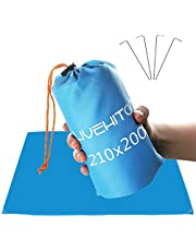 LIVEHITOP Pocket Blanket Picnic Beach Mat XXL Large 210x200cm, Ultra Light Portable Oxford Fabric Outdoor Blankets with Carry Bag Pegs for BBQ Camping Family, 82.7''x78.7''