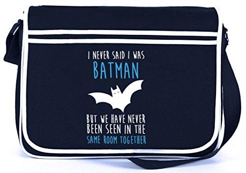 Shirtstreet24, I Never Said..., Retro Messenger Bag Kuriertasche Umhängetasche Navy