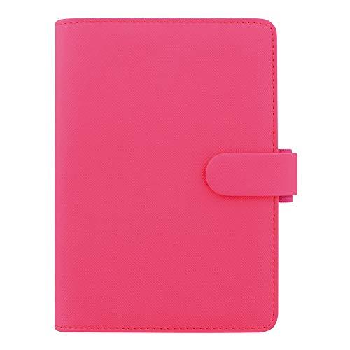 Filofax 2019 - Organizador personal, Saffiano Fluoro, color rosa, 16,51 x 9,52 cm (C028750-19)