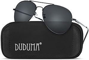 Duduma メンズ レディース ティアドロップ サングラス 釣り 運転用 Du7802