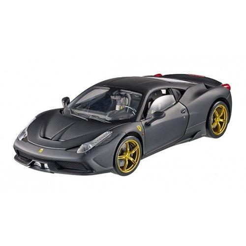 Ferrari 458 Speciale Elite Edition Matt Black 1/18 by Hotwheels BLY33
