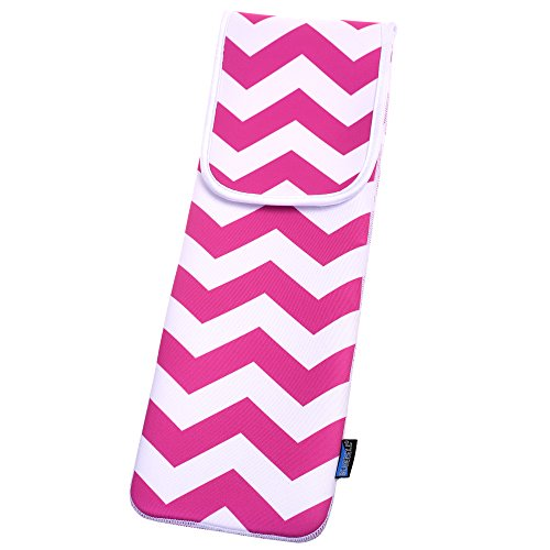 BCP Water-resistant Neoprene Curling Iron Holder Flat Iron Curling Wand Travel Cover Case Bag Pouch 15 x 5 Inches (Chevron) (Resistant Neoprene Cover)