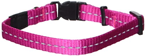 Reflective Dog Collar for Small Dogs, Adjustable from 8-13 inches, (Crystal Mlb Necklace)