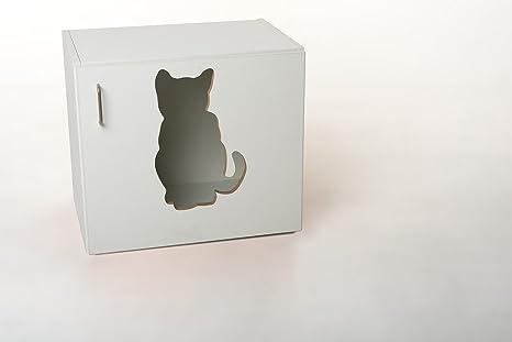 "Gato Armario ""Nyanko para gatos gato inodoro incl. Plástico inodoro y pala"