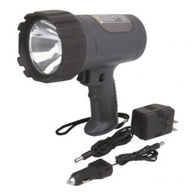 """""""ABC Products"""" – 1 Million ~ Power Halogen – Hand Held – Rechargeable Spotlight (Charges With Both – AC 120 Volt Electrical Outlet Adapter and Has a 12 Volt Car Battery Adapter), Outdoor Stuffs"""