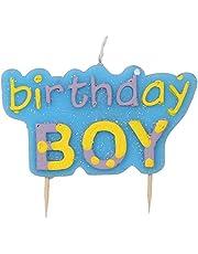 شمعة لحفلة عيد ميلاد للاولاد - متعددة الالوان
