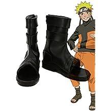 Telacos NARUTO Anime Uzumaki Naruto Ninja Cosplay Shoes Boots Custom Made Black