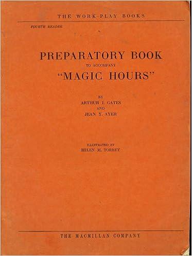 Preparatory Workbook to Accompany