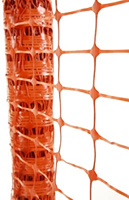 Hanes Geo Components 38880 Barrier Fence, 4 by 100-Feet, Orange