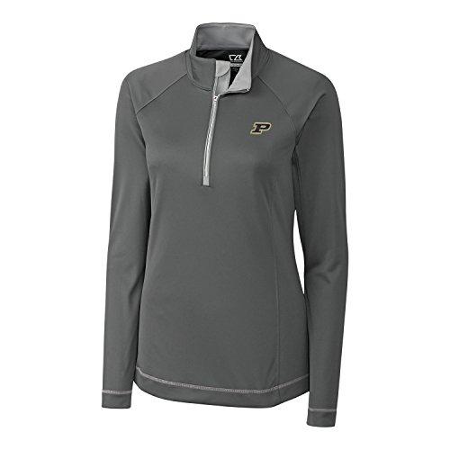 Cutter & Buck Mesh Pullover - Cutter & Buck NCAA Purdue Boilermakers Women's CB Dry Tec Long Sleeve Evolve Half Zip Apparel, X-Large, Elemental Grey