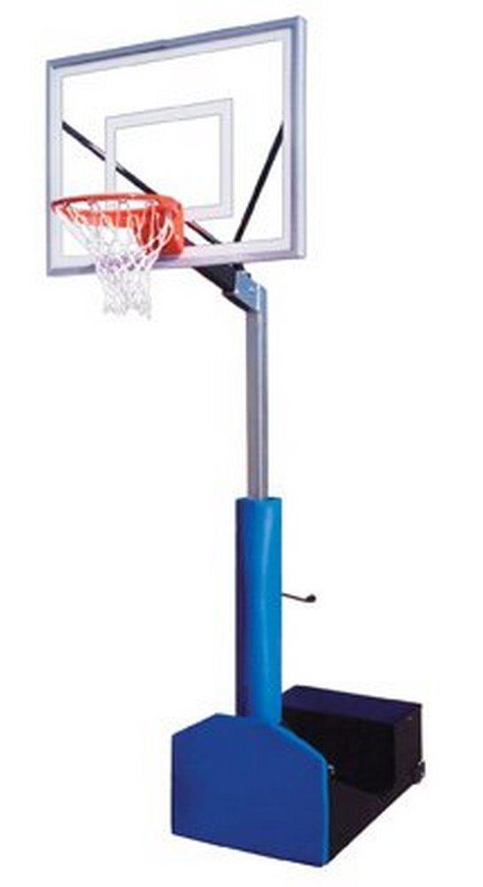 最初チームRampage III steel-acrylicポータブルバスケットボールsystem44 ;グレー B01HC0DIKO