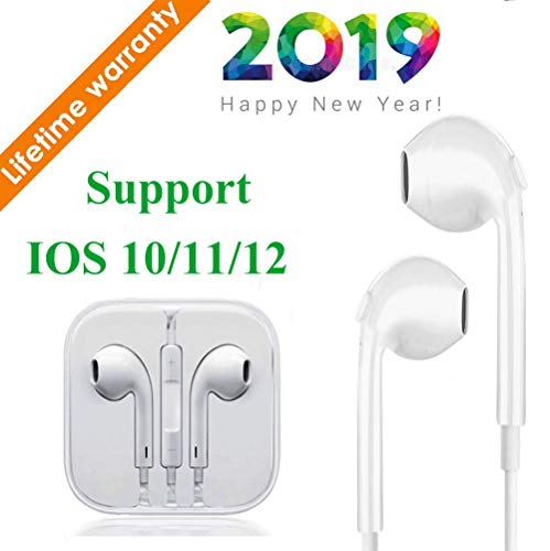 Earbuds Earphones Stereo Headphones Noise Isolating Headset Built-in Microphone & Volume Control Compatible with iPhone X/Xs Max/XR 7/8/8Plus iOS 10/11/12 Plug and Play