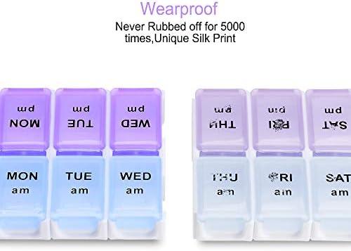 7Day Detachable Weekly Pill Organizer  AMPM Daily Pill Organizer with MoistureProof Design BPA Free