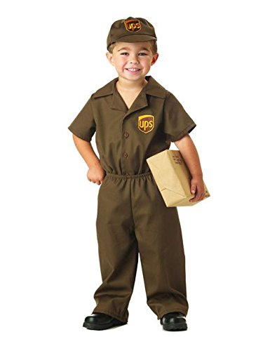 UPS Guy Boy's Costume, Medium (3-4),Brown ()