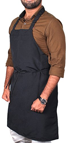 Utopia Kitchen Professional Bib Apron ( 12 pack, 32 x 28 inches, Black ) - Liquid drop resistant, Durable, String Adjustable, Machine Washable, Comfortable and Easy Care Aprons. (Black) by Utopia Kitchen (Image #5)