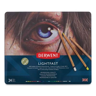 Derwent 2302722 Lightfast Coloured Pencil Tin (Pack of 72) by Derwent