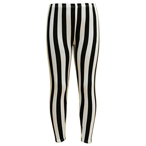 993e6dabd7ebb1 Amazon.com: a2z4kids Girls Legging Kids Black & White Vertical Stripes  Striped Fashion Leggings 7-13Y: Clothing