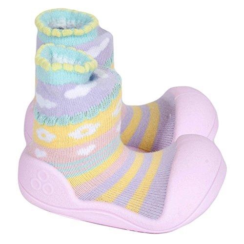 Attipas attibebe–Zapatos de color rosa bebé Walker zapatos para zapatillas rosa rosa Talla:22.5