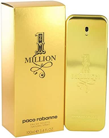 1 Million by Paco Rabanne Eau De Toilette Spray 3.4 oz for Men - 100% Authentic